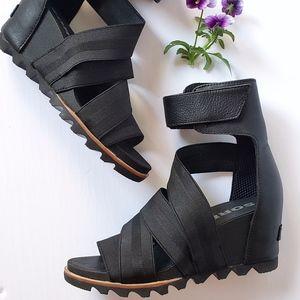 *NEW* Sorel Joanie Gladiator II Wedge Sandals -BK
